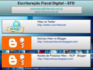 Escritura��o Fiscal Digital � EFD