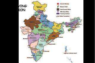 MAP SHOWING IEM MISSION FIELDS