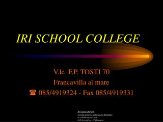 IRI SCHOOL COLLEGE