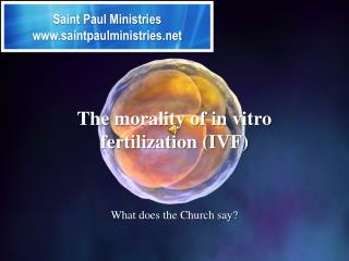 The morality of in vitro fertilization (IVF)