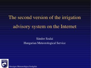 Meteorological stations within the system