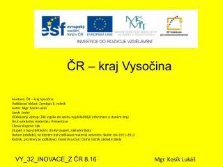 ČR – kraj Vysočina