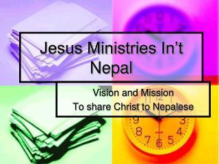 Jesus Ministries In�t Nepal