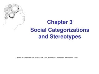 Chapter 3  Social Categorizations and Stereotypes