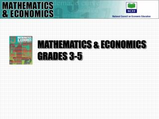 MATHEMATICS  ECONOMICS GRADES 3-5
