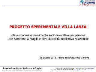 21 giugno 2013, Teatro della Gioventù Genova