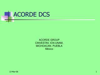 ACORDE DCS