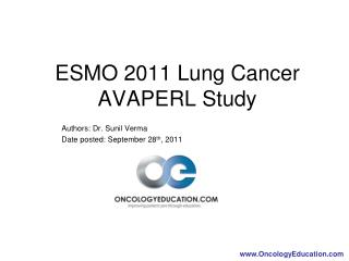Authors: Dr. Sunil Verma Date posted: September 28th, 2011