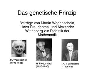 Das genetische Prinzip
