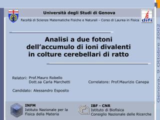 Universit� degli Studi di Genova