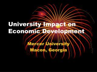 University Impact on Economic Development