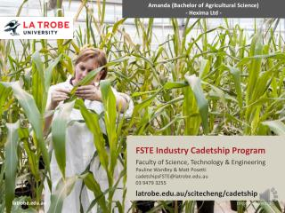 FSTE Industry Cadetship Program Faculty  of Science, Technology & Engineering