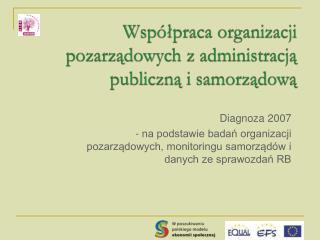 Współpraca organizacji pozarządowych z administracją publiczną i samorządową