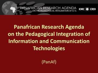 Educational Research Network for West and Central Africa Université de Montréal, Canada