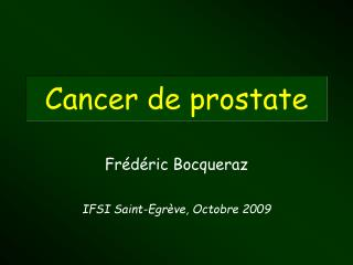 Cancer de prostate