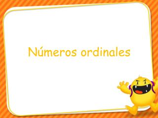 N�meros ordinales