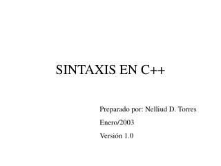 SINTAXIS EN C++