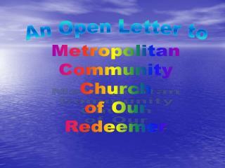 Metropolitan Community Church of Our Redeemer