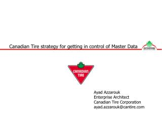 Canadian Tire strategy for getting in control of Master Data