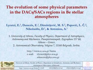 cc.uoa.gr/fasma  e-mail:elyratzi@phys.uoa.gr edanezis@phys.uoa.gr