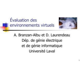 Évaluation des environnements virtuels