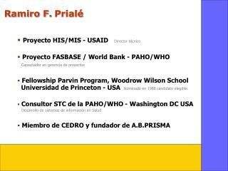 Ramiro F. Prial