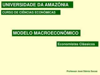 MODELO MACROECON�MICO