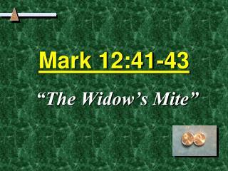 Mark 12:41-43