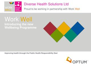 Work  Well Introducing the new  Wellbeing Programme