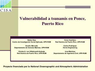 Vulnerabilidad a tsunamis en Ponce, Puerto Rico