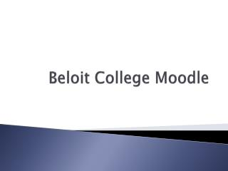 Beloit College Moodle