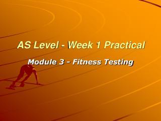 AS Level - Week 1 Practical