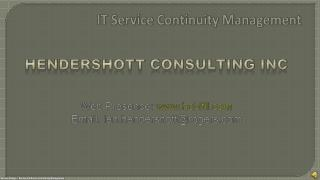 IT Service Continuity Management