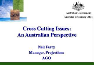 Cross Cutting Issues: An Australian Perspective