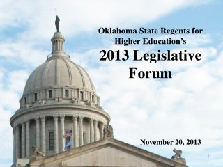 Oklahoma State Regents for Higher Education's  2013 Legislative Forum