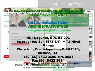 HDI SegurosPago Por Página WEB