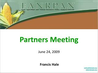 Partners Meeting June 24, 2009