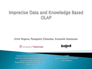 Imprecise Data and Knowledge Based OLAP