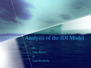 Analysis of the IDI Model