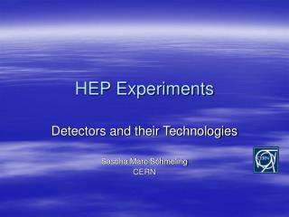 HEP Experiments