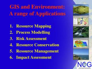 GIS and Environment: A range of Applications