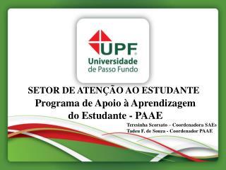 SETOR DE ATENÇÃO AO ESTUDANTE