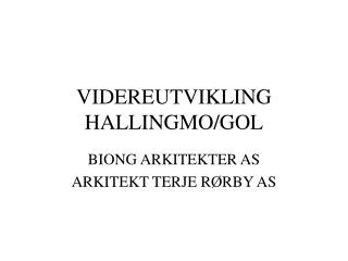 VIDEREUTVIKLING HALLINGMO/GOL