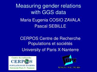 Measuring gender relations with GGS data