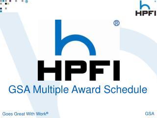 GSA Multiple Award Schedule