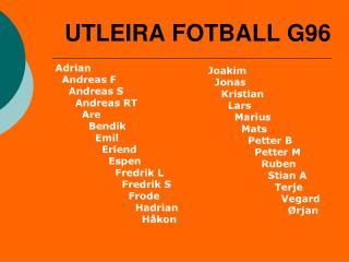 UTLEIRA FOTBALL G96