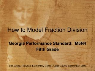 How to Model Fraction Division