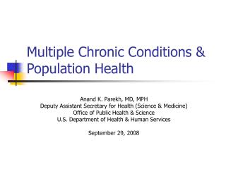 Multiple Chronic Conditions  Population Health