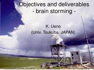 Objectives and deliverables - brain storming -