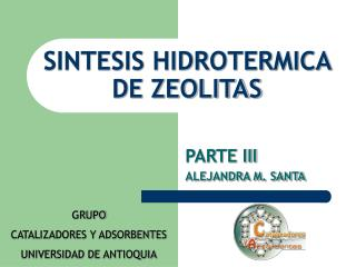 SINTESIS HIDROTERMICA DE ZEOLITAS
